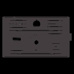 Icono de cámara negra vintage