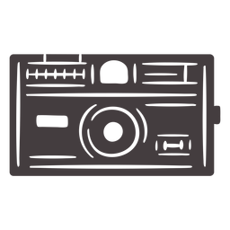 Icono de cámara vintage negro