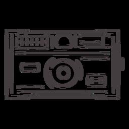 Icono de trazo de cámara vintage