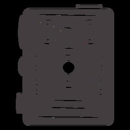 Icono de cámara negra vintage película