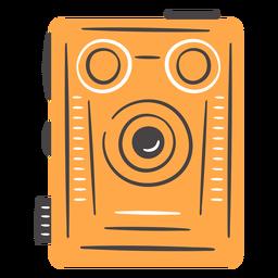 Câmera de filme vintage mão desenhada cor
