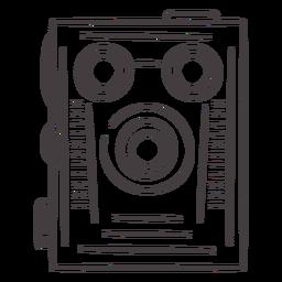 Ícone de traçado de câmera de filme vintage