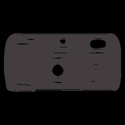 Icono negro de la cámara de fotos vintage