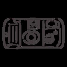 Icono de trazo de cámara de fotos vintage