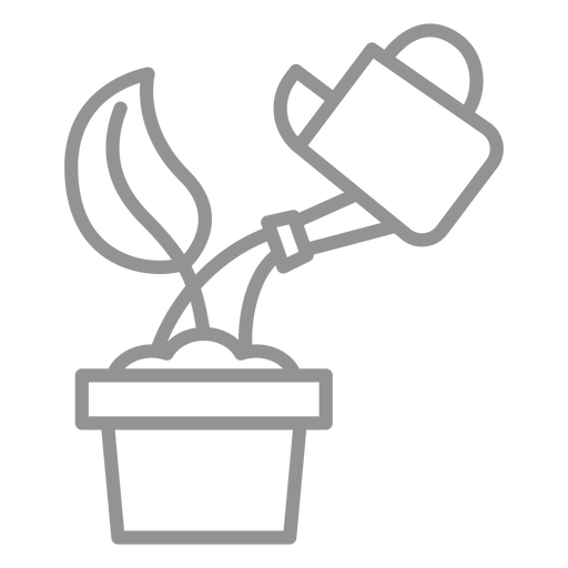 Watering seed icon stroke Transparent PNG