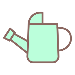 Watering can icon flat