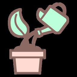 Icono de brotes de riego