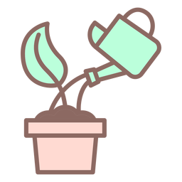 Watering sprout icon