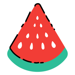 Watermelon slice flat