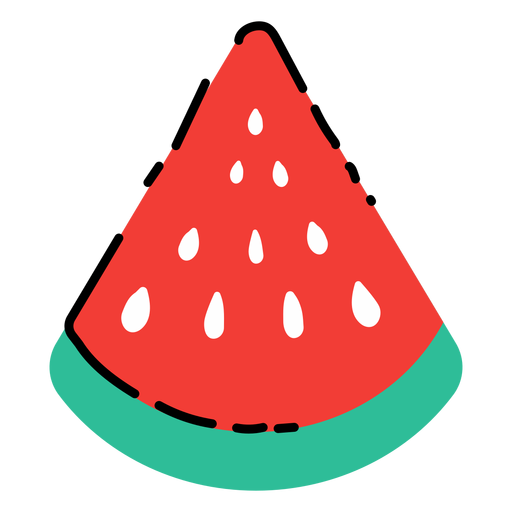 Watermelon slice flat