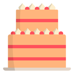 Wedding cake strawberry flat