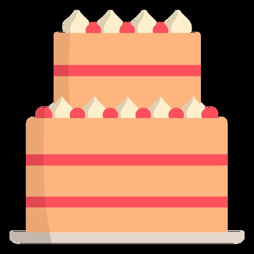 Wedding cake strawberry flat Transparent PNG
