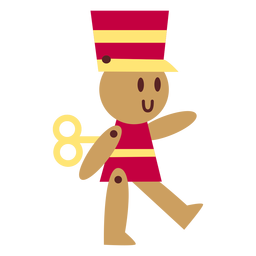 Wind up toy soldier flat