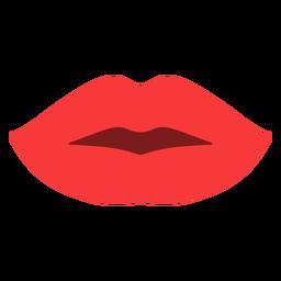 Woman lips flat