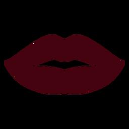 Silhueta de lábios de mulher