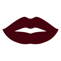 Woman lips silhouette