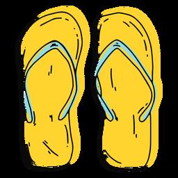 Chancletas amarillas trazo