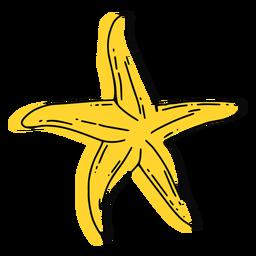 Golpe de estrella de mar amarilla