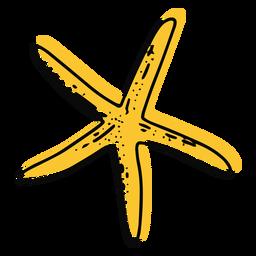 Golpe de estrella de mar amarillo delgado