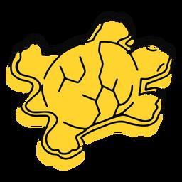 Trazo de juguete tortuga amarilla