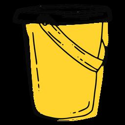 Yellow bucket stroke