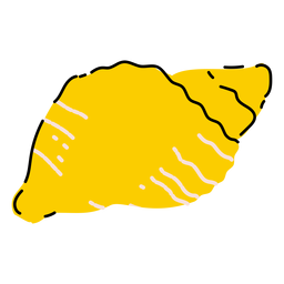 Yellow seashell flat
