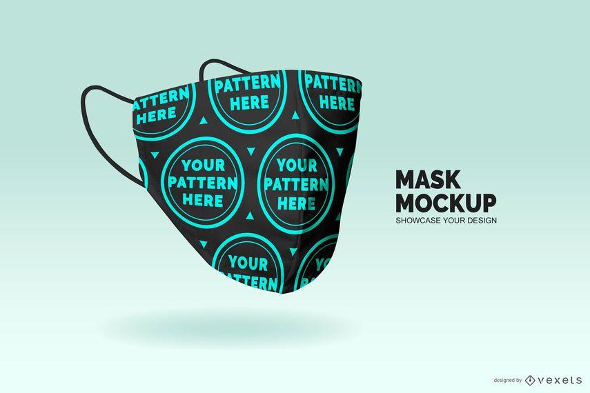 Medical mask mockup design