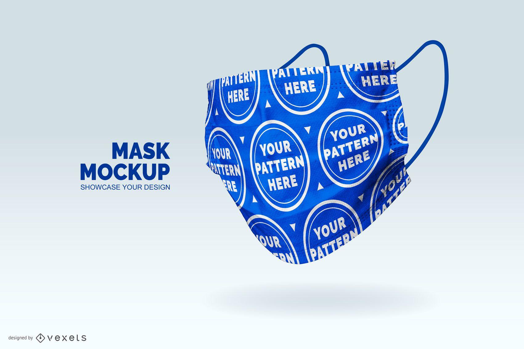 Medical mask pattern mockup