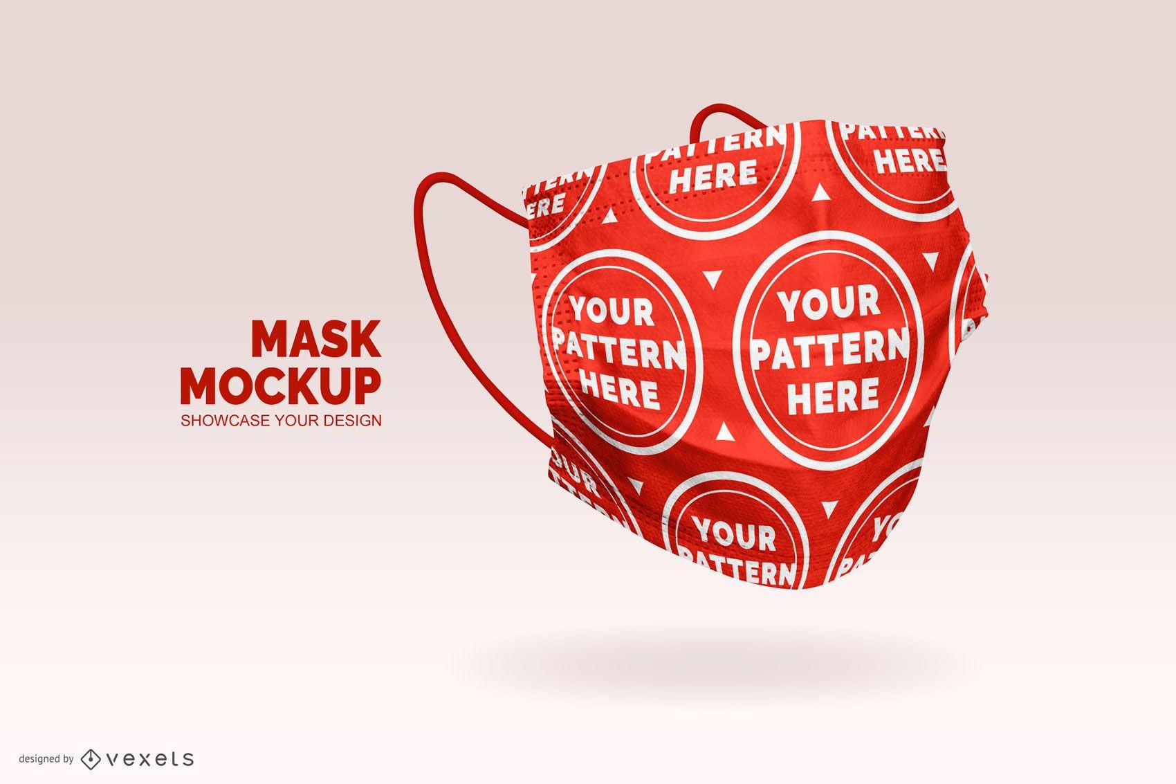 Face mask pattern mockup