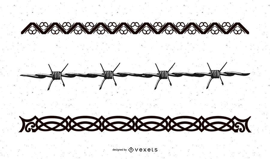 Barbed Wire Tribal Vectors