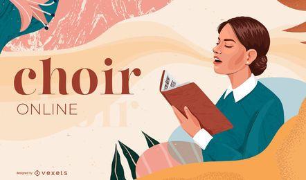 Diseño de portada de coro en línea