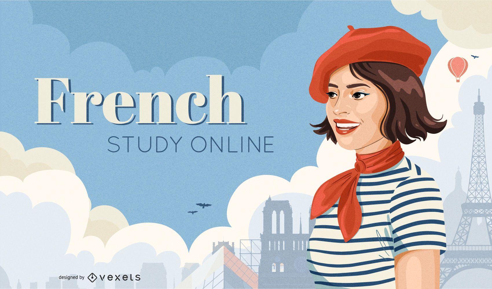 Diseño de portada online en francés