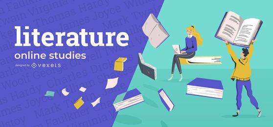 Literature online education cover