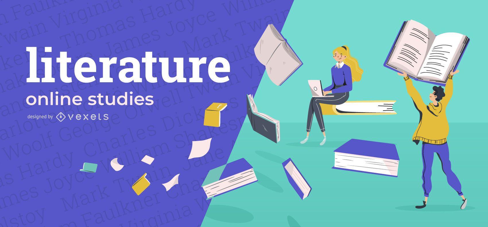 Literature online education cover