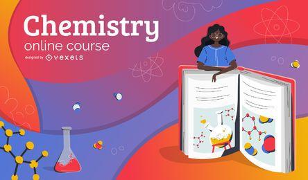 Portada de educación en línea de química