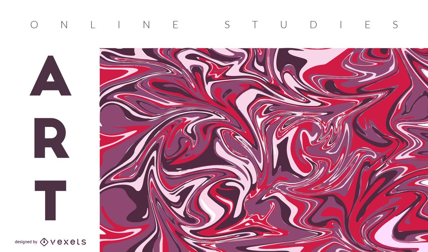 Portada abstracta de arte online