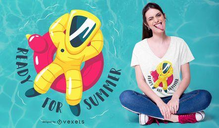 Pronto para o design de t-shirt engraçado de verão