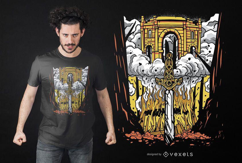 Viking Funeral T-shirt Design