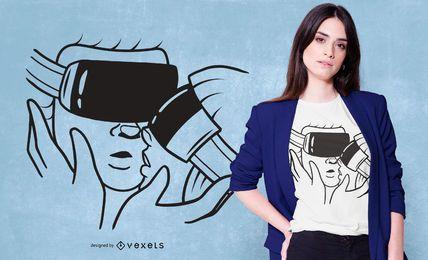 Projeto virtual do t-shirt do beijo