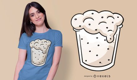 Diseño de camiseta de cristal de masa