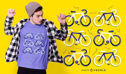 Bicycle Flat T-shirt Design
