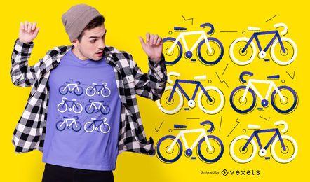Fahrrad flaches T-Shirt Design