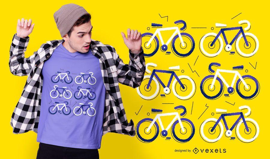 Design de camiseta plana de bicicleta