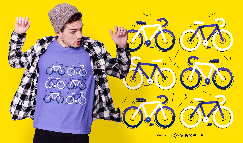 Diseño de camiseta plana de bicicleta