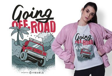 Diseño de camiseta de camión fuera de carretera