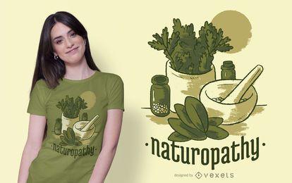 Design de t-shirt de estilo de vida de Naturopatia