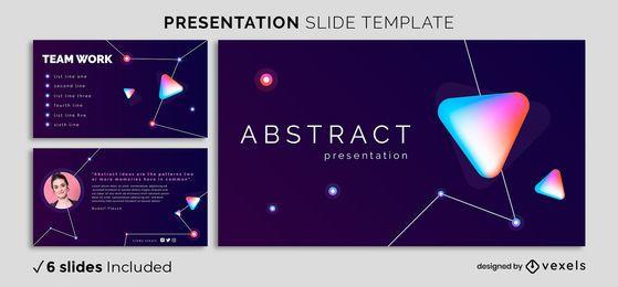 Plantilla de presentación abstracta