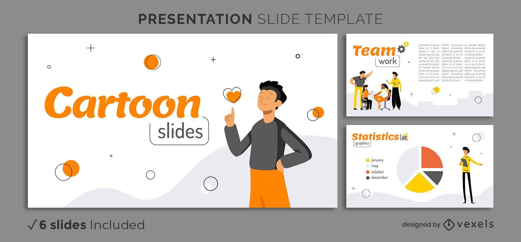Präsentationsvorlage für einfache Zeichen