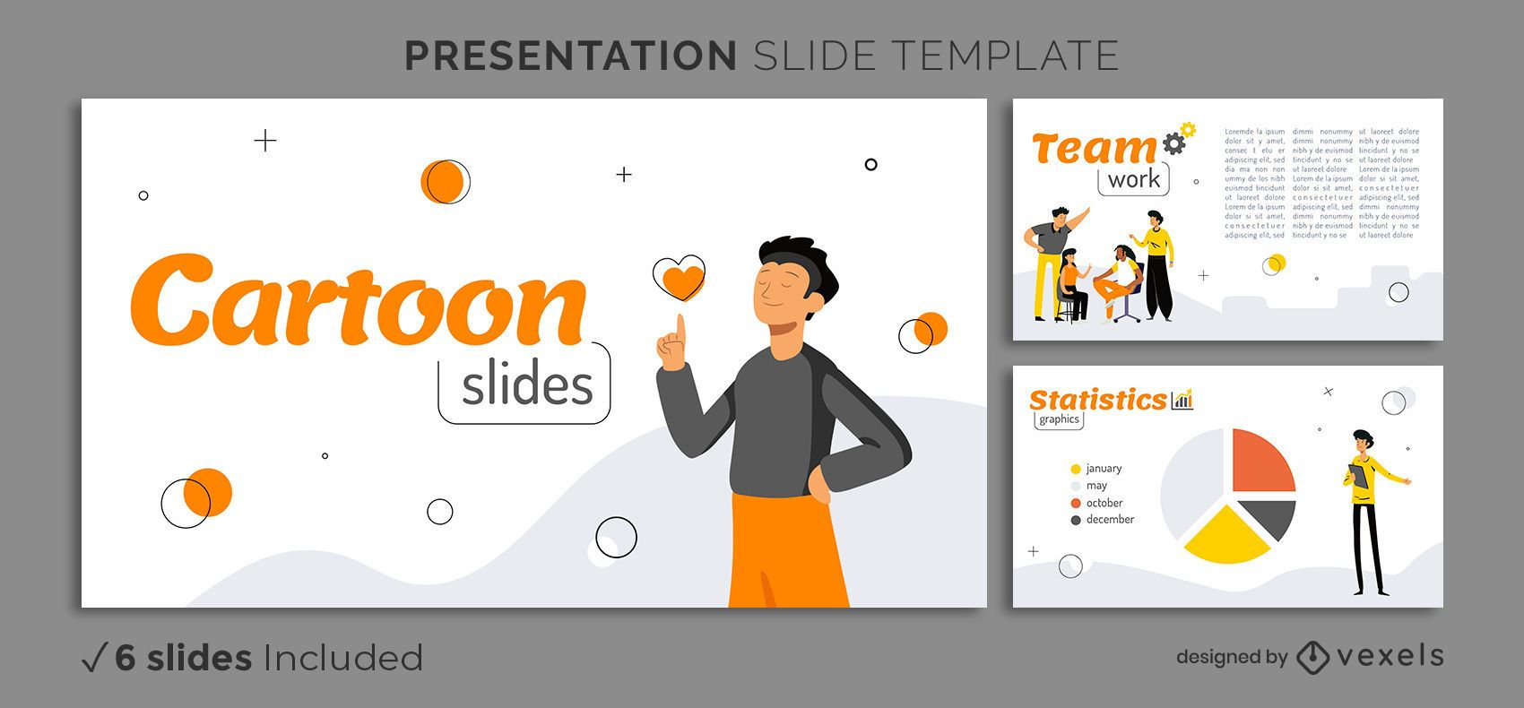 Simple Characters Presentation Template