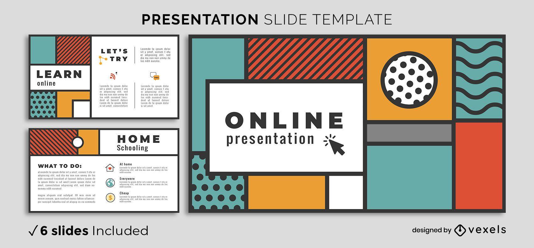 Geometric Shapes Presentation Template